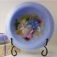 "Habersham Wax Pottery Bowl Hydrangea  - 7"" Wax Vessel Flameless USA Made"