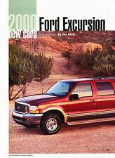 2000 Ford Excursion Original Car Review Print Article J463