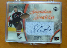 05-06 UD Ice Jeff Carter Auto Jersey Signature Swatches Flyers 2005 Upper Deck