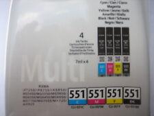CANON CLI-551Z Multipack CLI-551 C Y M Bk 509B009  Pixma ip7250 MG 5450  MX-925