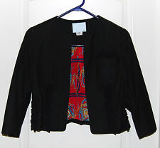 ZANG TOI short 3/4 sleeve Cotton LOGO pocket red Horse Bit blazer Jacket M 8 NEW