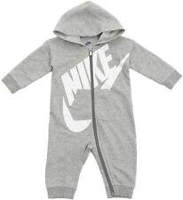 Nike Bebé Con Capucha Mono De una pieza 3M mes Oscuro Gris Brezo MSRP $34.00 Nuevo con etiquetas