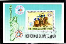 BURKINA FASO #C244  1976  AMERICAN BICENTENNIAL  MINT  VF NH  O.G  S/S  CTO  b
