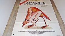 LES FRUITS DE LA PASSION ! s terayama affiche dessin erotique vintage topor 1979