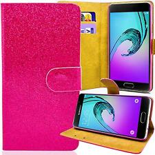 Glitzer Book Style Handy Tasche Samsung S6310 S6312 Galaxy Young Pink Flip Case