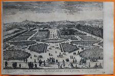 VAN DER AA Gravure originale c1725 VUE DU JARDIN DES TUILERIES Conférence Meudon