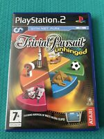 TRIVIAL PURSUIT UNHINGED -Sony Playstation 2 PS2 Quiz GAME Tested Complete-VGC