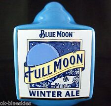 Blue Full Moon Winter Ale Tap Handle Beer Bar Keg Marker Porcelain Ceramic 10""