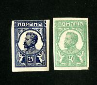 Romania Stamps # VF OG LH 2x 1910 Essays