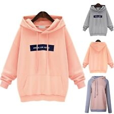 Plus Size Women Hoodies Sweatshirt Ladies Hooded Sweater Tops Jumper Pullover UK