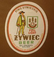 OLD POLISH BEER LABEL, BROWAR ZYWIEC POLAND, ZYWIEC BEER