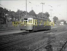 Key System Streetcar #972 - 18 Line / Lake Shore - Vtg Railroad Negative