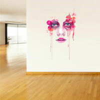 Full Color Wall Decal Sticker Art Paintings Face Woman Eye Lips Fashion Col396