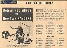 1960 TV HOCKEY ADS~GORDIE HOWE~DETROIT RED WINGS~NEW YORK RANGERS~TERRY SAWCHUK