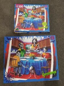 Vintage 1995 Goosebumps 100 Piece Jigsaw Puzzle MB Say Cheese and Die- Again #44