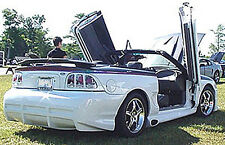 SVT  STYLE SIDE EXHAUST PIPE COVERS MUSTANG 1994-1998