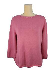 Pendleton Women's Pink Boat Neck Knit Top sz M
