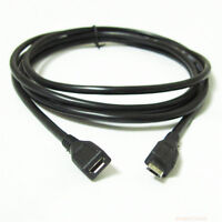 New Micro USB Male To Female Extension Extender Data Sync Charging Cable Adaptor