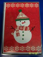 Very Merry Snowflake Winter Christmas Holiday Party Gift Boxed Greeting Cards