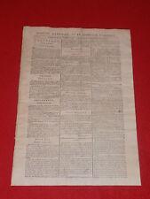 JOURNAL GAZETTE NATIONALE OU LE MONITEUR UNIVERSEL N° 301 SAMEDI 27 OCTOBRE 1792
