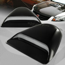 Universal Black Painted ABS Plastic Racing Air Flow Vent Turbo Hood Scoop Cover