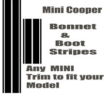MINI COOPER BONNET & BOOT STRIPES ONE COUNTRYMAN S DS  GRAPHICS CLUBMAN  ALL4