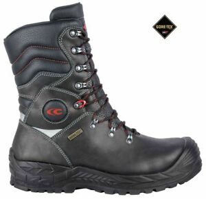 Cofra Brimir S3 Black Lace Up Safety Work Gore-Tex Leather Hi Mens Boots