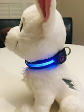 Premium LED Dog Collar USB Rechargeable bright lighted blinking modes pet
