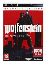 2 Games for Sony PlayStation 3 PS3 - Wolfenstein The New Order, Metro Last Light
