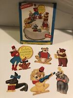 Vintage Circus Animals Child Birthday Cake Decorations Card Stock