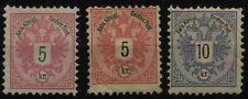 Österreich 1883 3Stk. ungebraucht * Bz10, DIFFERNT COLOR TONE! KW:205,-€