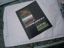 Catalogue pub auto prospectus voiture  camping car Karmann multilingue