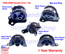 New Engine Motor & Transmission Mount Kit 5PCS for 1996-2000 Honda Civic 1.6L