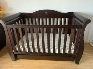 Boori Country ROYALE SLEIGH COT WITH DRAWER + Mattress