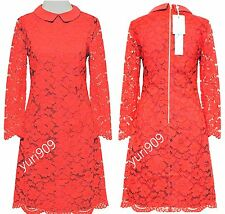 Ted Baker London Red Ameera Scallop Hem Lace Dress Size 3 (US 8) $349