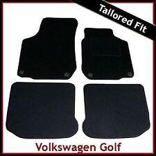 VOLKSWAGEN VW GOLF Mk4 1997-2004 a Medida Alfombra Alfombrillas De Coche Negro Equipada