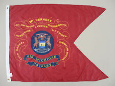 6th Michigan Cavalry Historical Indoor Outdoor Dyed Nylon Flag Guidon 3' X 4'