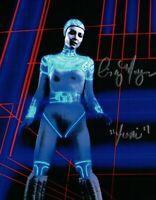 "Cindy Morgan Signed 8X10 Photo Autograph Auto Tron ""Yori"" Full Body Shot COA"