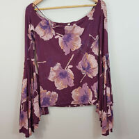 FREE PEOPLE |  Womens Floral Print Top New [ Size S or AU 10  / US 6 ]