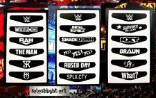 WWE 18x PS4 Controller Light bar Vinyl Decal Sticker Raw SmackDown PlayStation
