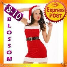 7120 Santa Claus Christmas Fancy Dress Costume 8 10 S M