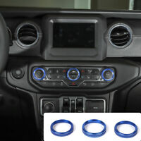 Aluminum Alloy Air Conditioner Switch Ring Cover Trim For 2018 Jeep Wrangler JL