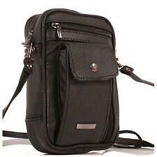 08c8a85d5390 Mens Lorenz Black Leather(3728)small Multi Functional Travel Shoulder Man  Bag