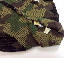 Denim Supply Ralph Lauren Women Wool Military Army Camo Knit Sweater Cardigan M