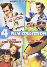 JIM CARREY COLLECTION DVD Ace Ventura 1 2 Dumb & Dumber The Mask 4 NEW UK R2 DVD