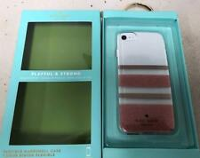 New Original KATE SPADE NY Charlotte Stripe Rose Gold / Clear Case iPhone 8 & 7