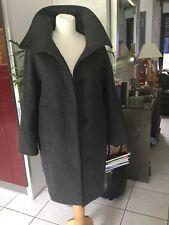 Caban manteau MASSIMO DUTTI taille 40 gris laine bon etat