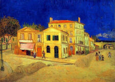 Vincent Van Gogh. The Yellow House in Arles. Real Canvas for Sale Fast / Free UK