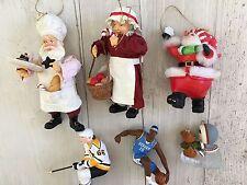 Set Of 6 Vintage Ornaments Christmas decorations Hallmark Baker Smowman Eskimo
