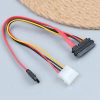 7 Pin SATA data / 4 pin compatible IDE to 15 pin SATA power cable vO